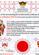 The New - Personalised Registration Certificate - Click Here