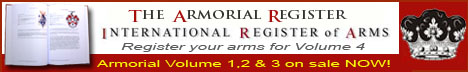 Register your coat of arms in Volume 2 of The Armorial Register - International Register of Arms
